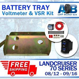 Battery Tray & Voltage Sensitive Relay Kit & Volt Meter for Toyota LandCruiser 70 series