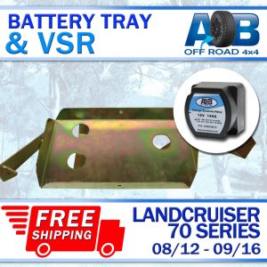 Battery Tray & Voltage Sensitive Relay for Toyota LandCruiser 70 series