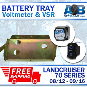 Battery Tray & Voltage Sensitive Relay & Volt Meter for Toyota LandCruiser 70 series