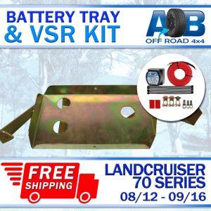 Battery Tray & VSR Kit for Toyota LandCruiser 70 series 12V